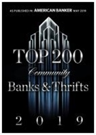 Andover Bank announces Top 200 National Ranking