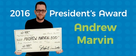 2016 Andover Bank President's Award Recipient Named