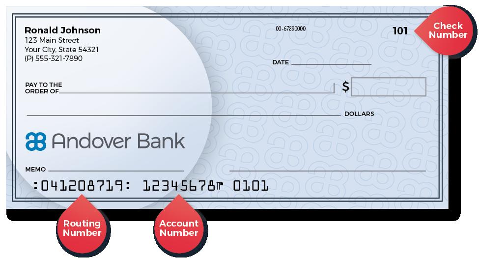 Reorder checks online | Andover Bank